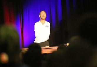 Nick Vujicic - Vujicic speaking to students in Florida in 2015