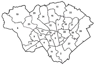 City of Cardiff Council - Electoral ward map of Cardiff