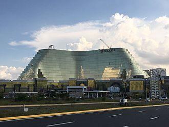 Gambling in Metro Manila - Okada Manila under construction in Entertainment City, March 2017