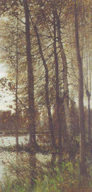 Frank O'Meara - Autumnal greys (Forest of Fontainbleau) (1880)