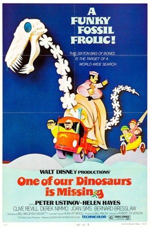 One of Our Dinosaurs Is Missing - Theatrical release poster