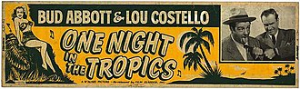 One Night in the Tropics - Ad banner