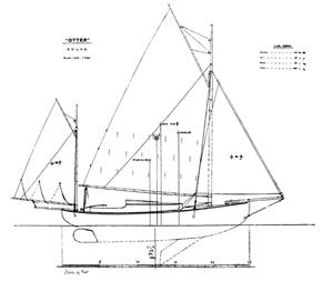 Albert Strange - Image: Otter canoe yacht sails