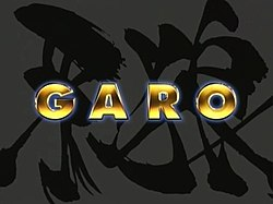 "The ""GARO"" splash logo, screenshot taken from the TV show"