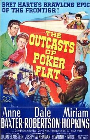 The Outcasts of Poker Flat (1952 film) - Theatrical release poster