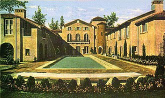 Canfield-Moreno Estate - The Paramour Mansion during the 1930s