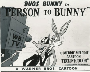 Person to Bunny - Lobby card.