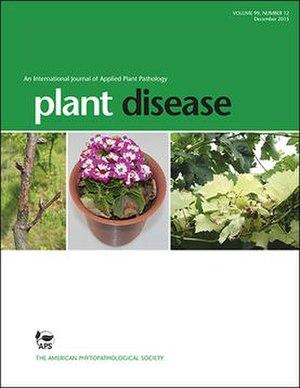 Plant Disease (journal) - Image: Plant Disease cover