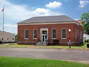Pontotoc, Mississippi - The Town Square Museum/Post Office located in downtown Pontotoc