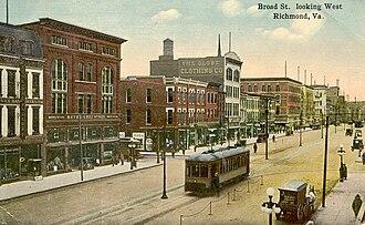 Broad Street (Richmond, Virginia) - Image: Richmond Theatre Broad 1913