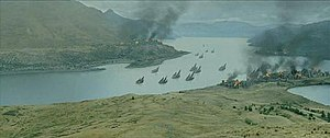 Gondor - Pelargir infested by the Corsairs, as depicted in ''The Lord of the Rings'' film trilogy