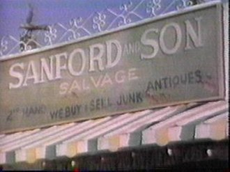 Sanford and Son - From the Sanford and Son opening credits: the sign above the Sanfords' home and workplace