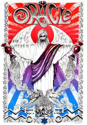 San Francisco Oracle - Cover of the sixth issue, February 1967