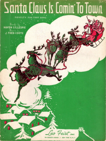Santa Claus Is Comin' to Town sheet music cover 1934.png