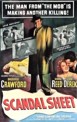 Scandal Sheet (1952 film) - Theatrical release poster