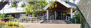 University of Waikato - Faculty of Law Main Entrance in its Hamilton Campus