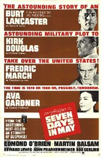 <i>Seven Days in May</i> 1964 political thriller film directed by John Frankenheimer