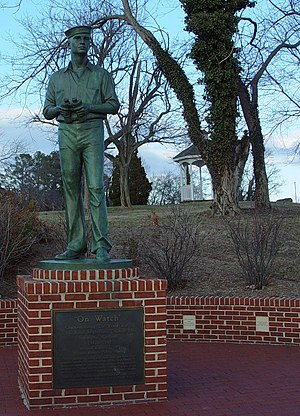 Solomons, Maryland - Sculpture On Watch, commemorating the World War II U.S. Naval Amphibious Training Base, 1942–1945, by Antonio Tobias Mendez