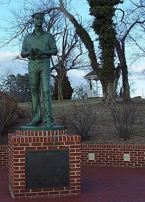 Solomons, Maryland - Sculpture On Watch, commemorating the World War II U.S. Naval Amphibious Training Base, 1942–1945, by Antonio Tobias Mendez