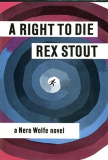 <i>A Right to Die</i> book by Rex Stout