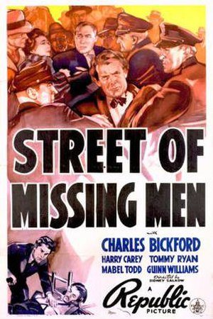 Street of Missing Men - Theatrical release poster