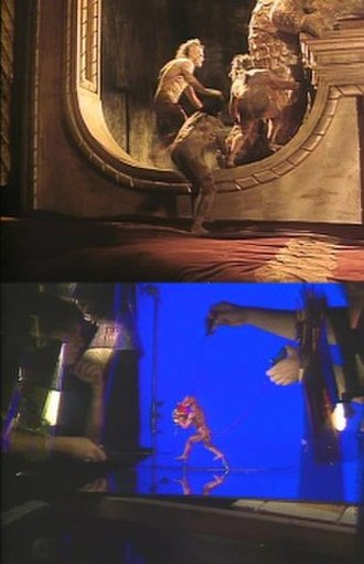Subspecies (film series) - Upper image: The original subspecies creatures, as portrayed by local Romanian men wearing rubber suits Lower image: The finalized version of the creatures was created from the use of stop-motion puppets