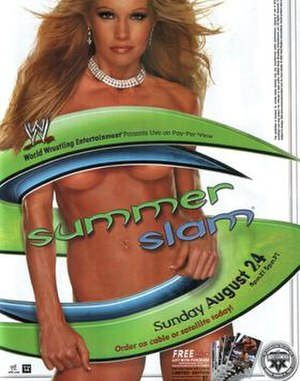 SummerSlam (2003) - Promotional poster featuring Sable