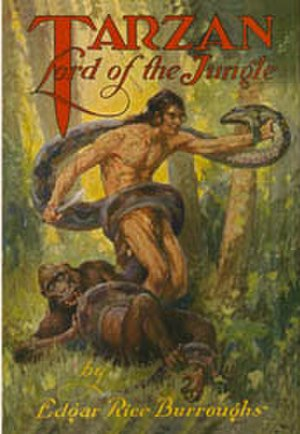 Tarzan, Lord of the Jungle (novel) - Dust-jacket illustration of Tarzan, Lord of the Jungle