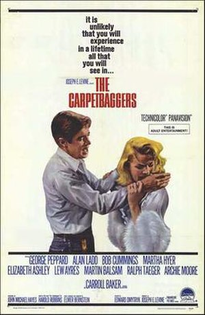 The Carpetbaggers (film) - U.S. poster art