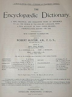 Encyclopedic dictionary dictionary that collects short articles on a wide range of topics both of an encyclopaedic and a lexicographic kind, arranged in alphabetical order