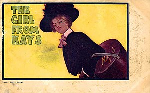 The Girl from Kays - Postcard advertising the musical