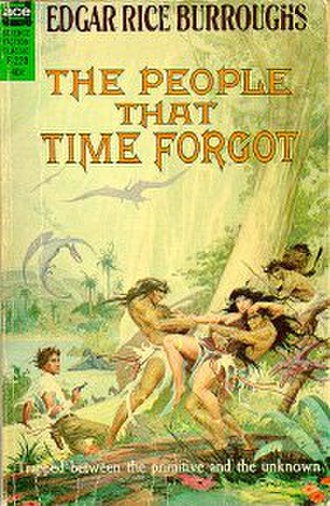 The People That Time Forgot (novel) - Cover art for first separate edition of The People That Time Forgot