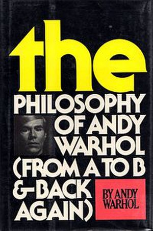 The Philosophy of Andy Warhol - Cover of the first edition