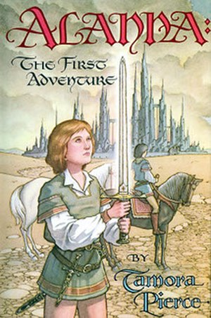 Alanna (The Song of the Lioness) - Cover of Alanna: The First Adventure, Alanna's first appearance.