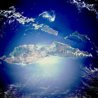 Timor - Timor as seen from space in 1989