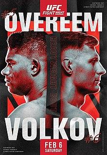UFC Fight Night: Overeem vs. Volkov Fight Poster