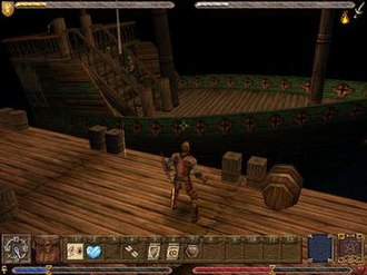 Ultima IX: Ascension - The main view of Ultima IX. This was the first Ultima game to feature 3D polygon rendering.