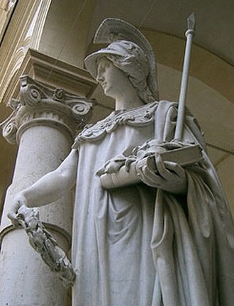 University of Turin - The Minerva Statue in front of the Rectorate Palace at the University of Turin.