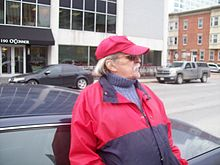 William Hawkins and his taxi, 2009.jpg