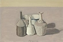 'Natura Morta', oil on canvas painting by Giorgio Morandi, 1956, private collection.jpg