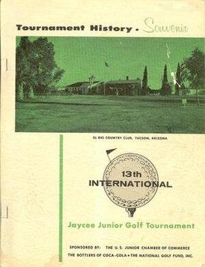 International Jaycee Junior Golf Tournament - 13th International Jaycee Junior Golf Tournament Souvenir Program (1958).