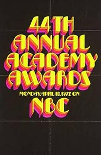 44th Academy Awards Award ceremony for films of 1971