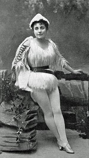 Ada Blanche - Blanche as Robinson Crusoe in 1893–94 Drury Lane pantomime
