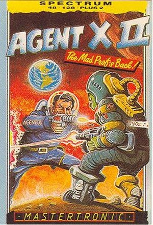 Agent X II: The Mad Prof's Back - Image: Agent X II Inlay