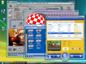 Amiga Forever 2008 on Windows Vista.