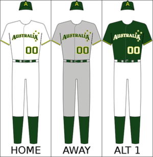 Australia national baseball team - Australia's national baseball uniform