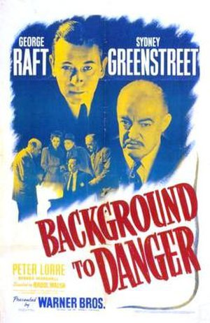 Background to Danger - Theatrical release poster
