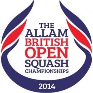 2014 Men's British Open Squash Championship - Image: British Open 2014 Logo