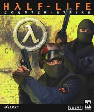 Counter-Strike (video game) - North American Microsoft Windows cover art of Half-Life: Counter-Strike
