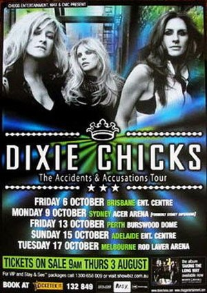 Accidents & Accusations Tour - Image: D Chicks 2006Tour Poster